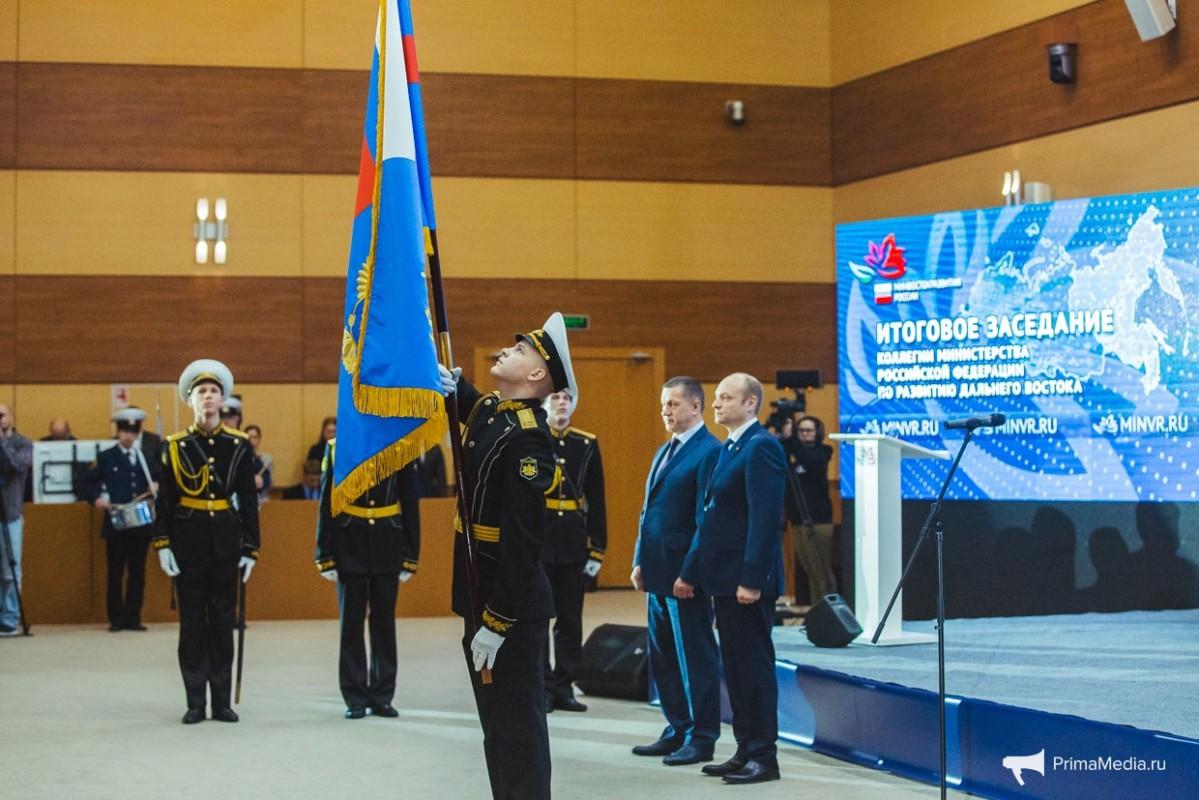 Эстрадный оркестр – участник церемонии вручения Флага Министерства РФ по развитию Дальнего Востока