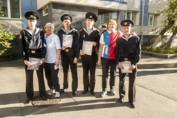Курсанты и студенты Морского колледжа встретились с олимпийскими чемпионами