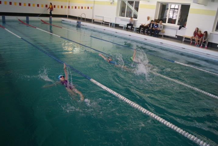 В бассейне прошли детские соревнования по плаванию