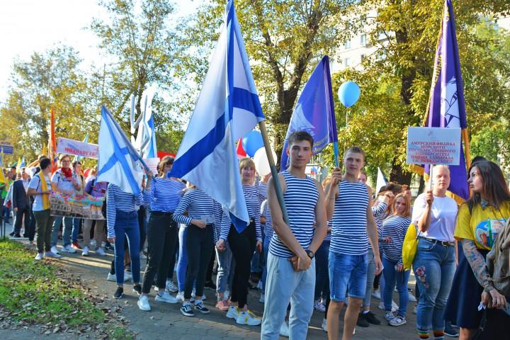 Парад российского студенчества на берегах Амура