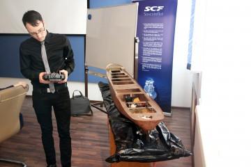 На конференции всех заинтересовала модель безэкипажного судна