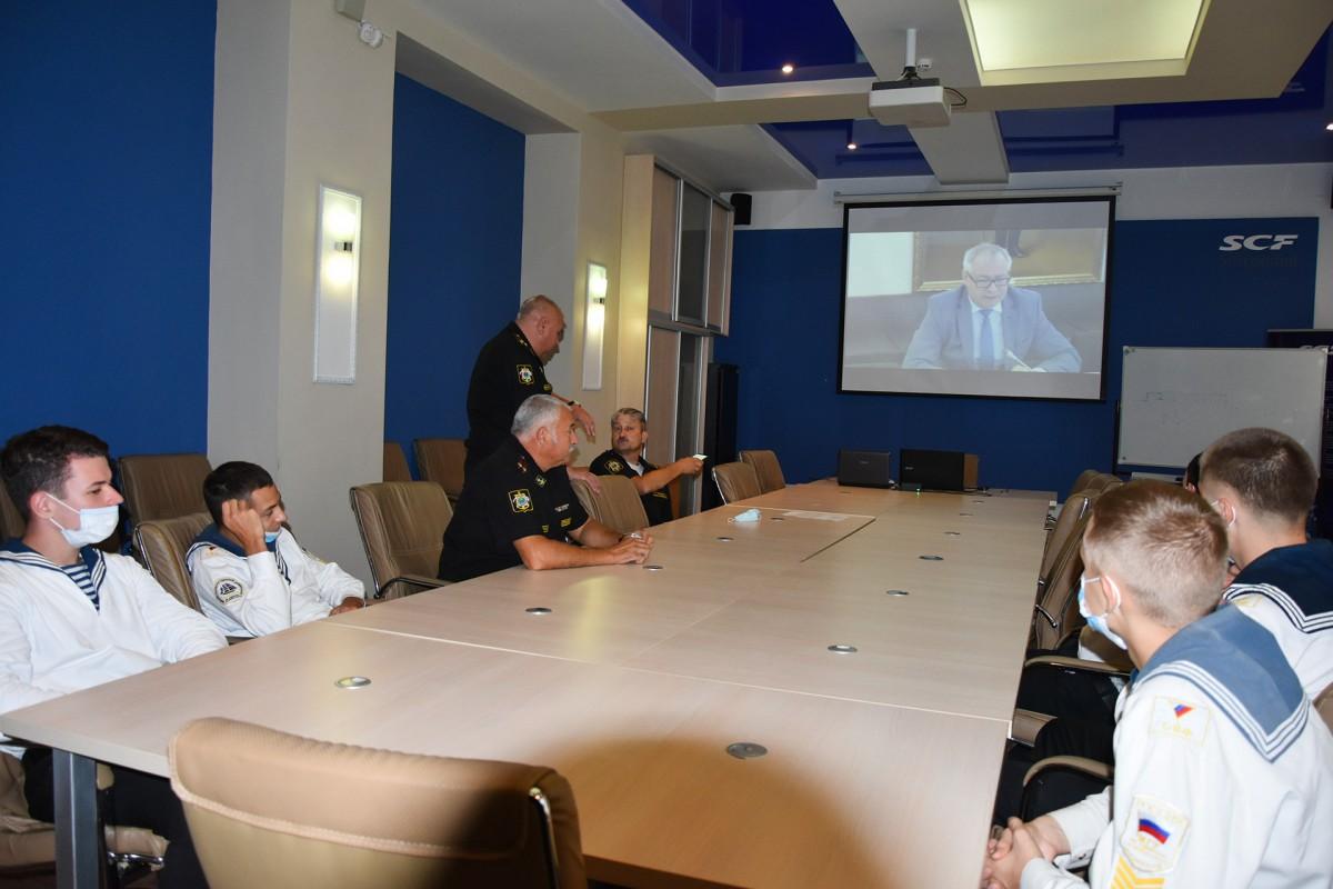 Курсанты участвовали в Дне военно-морских знаний в онлайн-формате