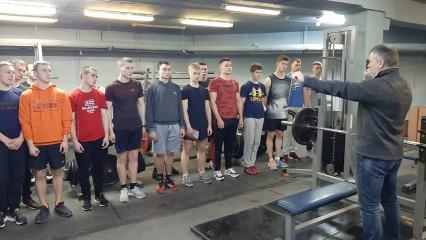 Соревнования среди курсантов и студентов по русскому жиму