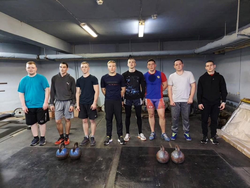 Соревнования по гиревому спорту среди курсантов и студентов