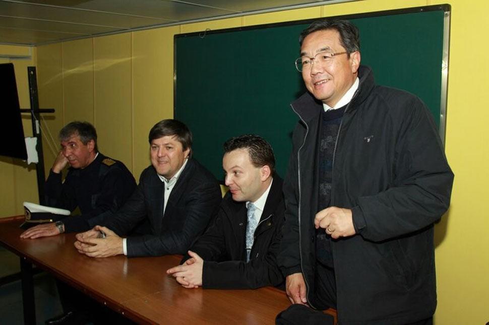 Встреча в Певеке с Генсеком ИМО Коджи Секимицу